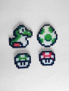 Super Mario Perler Bead Sprites