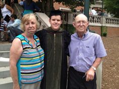 Ryan with his grandparents , Pam's