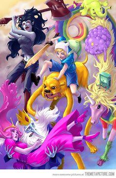 Awesome Adventure Time fan art…
