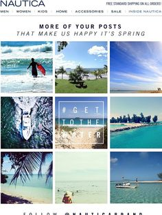 Nautica: Sharing Some Spring Travel Inspiration… Email Design Inspiration, Travel Inspiration, Kids House, Starters, Coupon Codes, Banners, Web Design, Ads, Content