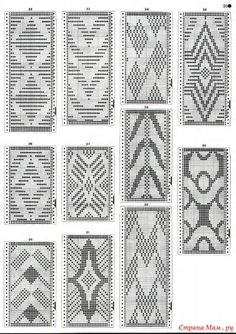This Pin was discovered by Ele Knitting Machine Patterns, Knitting Charts, Knitting Stitches, Knitting Designs, Tapestry Crochet Patterns, Weaving Patterns, Inkle Weaving, Filet Crochet Charts, Loom Beading