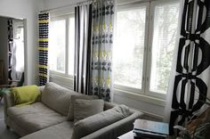 mix and match marimekko curtains // k o t t b y: Suoria saumoja