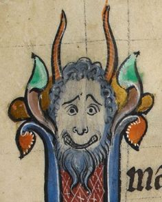 """Detail from """"The Rutland Psalter"""", medieval (c1260), British Library Add MS 62925. f 30r"""