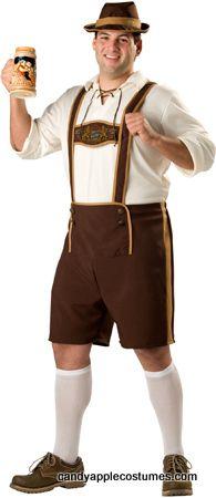 German Hansel Lederhosen Oktoberfest Yodeler Adult Men/'s XL Plus Size Costume