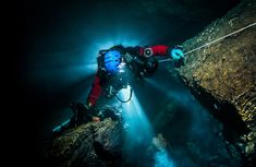 Polish explorer Krzysztof Starnawski says the Hranice Abyss in the Czech Republic is 'at least' 1,325 feet deep.