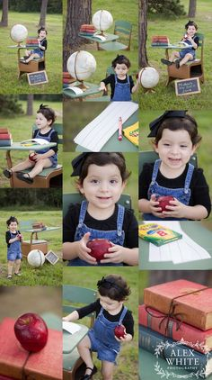 Back to School Mini Sessions | Outdoor Photography Session | Ideas on Props: Books Globe Chalkboard Apples Vintage Desk Mother's Day Out | Alex White Photography | www.alexwhitephot... | Kingwood, TX | Houston, TX | The Woodlands, TX
