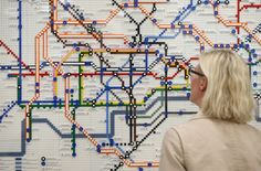 Lego versions of the famous Underground tube map have gone on display in 5 stations. | Lego Tube Map Is DelightfullyGeeky