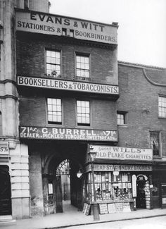 The gatehouse to the ancient St Bartholomew church in London before the 16th C front was rediscovered after a Zeppelin raid in 1916. http://medieval-london.blogspot.co.uk/2012/04/st-bartholomew-gatehouse-this.html