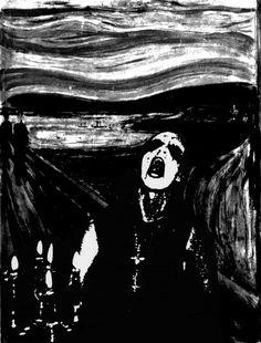 The Art of John Paul Blanchette: Transilvanian Scream. Darkthrone Transilvanian Hunger and Edvard Munch The Scream mashup