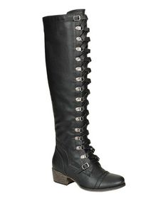 Loving this Black Alabama Over-the-Knee Boot on #zulily! #zulilyfinds