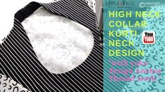 high neck collar kurti design with yoke embroidery thread work High Neck Kurti Design, Collar Kurti Design, Blouse Designs High Neck, Back Neck Designs, Collar Designs, Neckline Designs, Churidar Neck Designs, Kurta Designs Women, High Collar Blouse