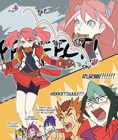 Yuri, Yuzu, Yugo, Serena, Hiragi Shuzou and Shun