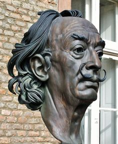 Portrait of Salvador Dali by Arno Breker, Sculpture Head, Modern Sculpture, Bronze Sculpture, Salvador Dali Art, Traditional Sculptures, Human Art, Arno, Portrait Art, Portraits