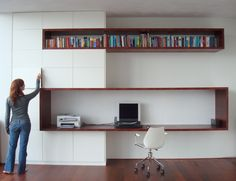 Top 10 Stunning Home Office Style Home Office Space, Home Office Design, Loft Design, Design Case, Interior Architecture, Interior Design, Study Nook, Pinterest Home, Cabinet Design