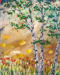 Birch Tree by Brian Doeden 16x20