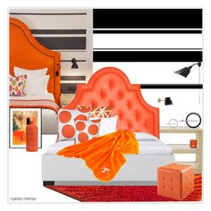 """Good time with orange"" by rainie-minnie ❤ liked on Polyvore featuring interior, interiors, interior design, home, home decor, interior decorating, Safavieh, Jayson Home, Jonathan Adler and Pillow Decor"