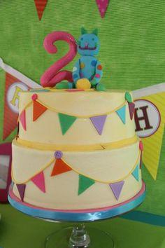Kara's Party Ideas Cat + Kitty Themed 2nd Birthday Party | Kara's Party Ideas