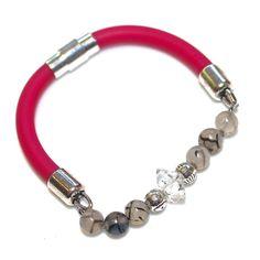 #Rubber #Bracelet #Herkimer #Diamond Bracelet Herkimer by #FizzCandy, $42.00