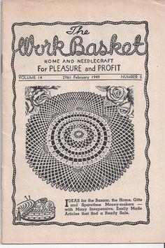 The WorkBasket Home & Needlecraft Book by VictorianWardrobe, $4.00