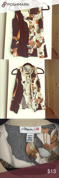 NWOT. Phillip Lim 3.1 for Target peplum shirt NWOT. Mixed floral print peplum shirt. 3.1 Phillip Lim for Target Tops Blouses