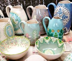 Katrin Moye ceramics and jugs
