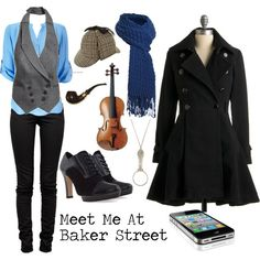 Love this!! The female version of Sherlock Holmes (BBC) attire! I MIGHT have to get items for this outfit once financial aid comes in.