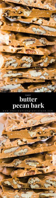 Easy Butter Pecan Bark