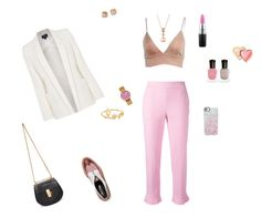 """""""White- nude- pink"""" by mariagraziatrotta ❤ liked on Polyvore featuring Robert Clergerie, MSGM, Rosendahl, Armani Jeans, Sydney Evan, LE VIAN, Tory Burch, Deborah Lippmann, Too Faced Cosmetics and MAC Cosmetics"""