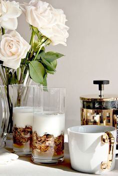 I would love french pressed coffee and yogurt parfaits surrounded by beautiful roses when i wake up ;)