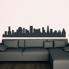 Skyline City Scape Around the World Wall Stickers Art Decal - People & Places