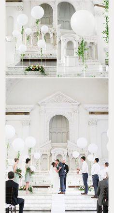 Balloon Wedding Decorations ~ we ❤ this! moncheribridals.com