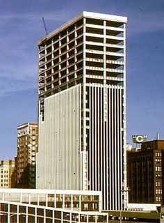 Financial Center, downtown Des Moines, under construction 1972-1973