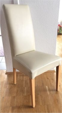 4 Stühle Kunstleder beige in Stuttgart