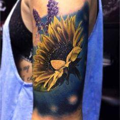 Sunflower Tattoo Artist: Venom Ink Tattoo Custom Tattoo and… – Awesome Tatoos 3d Tattoos, Cover Up Tattoos, Rose Tattoos, Body Art Tattoos, Sleeve Tattoos, Tatoos, Sunflower Tattoos, Sunflower Tattoo Design, Sunflower Tattoo Meaning