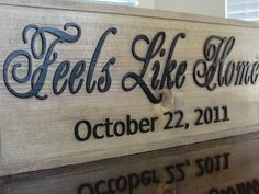 Custom Wooden Sign Personalized CARVED Last name sign Custom Wedding sign Established Date Anniversary Couples Wooden Plaque Christmas Gift....via Etsy.