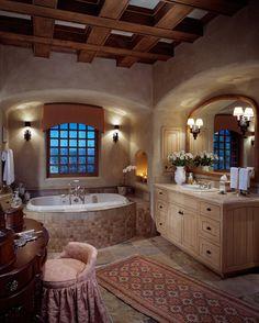 Janet Brooks Design ~ rustic bathroom