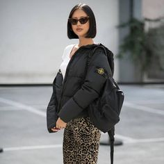 From vintage logo styles to practical unisex rucksacks, the backpack returns this season. Find inspiration in Vogue's close-up, zoomable street-style collection. Bomber Jacket, Winter Jackets, Vogue, Street Style, Backpacks, Fashion Outfits, Unisex, How To Wear, Accessories