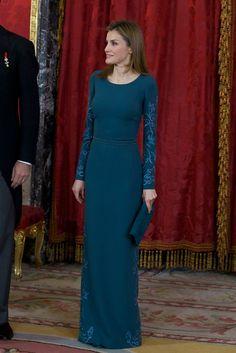 Love this color, too! ~c :-) ... Queen Letizia of Spain Evening Dress