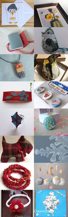 Shades of Doodle Dot by Alison Northern on Etsy--featuring my red white & blue pendant