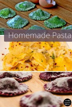 Rezeptideen für selbstgemachte gefüllte Pasta