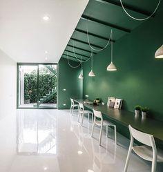 12 minimalist office interiors where there's plenty of… dezeen Interior Design Color Schemes, Cafe Interior, Office Interior Design, Interior Exterior, Office Interiors, Interior Architecture, Colour Schemes, Interior Design Magazine, Interior Minimalista