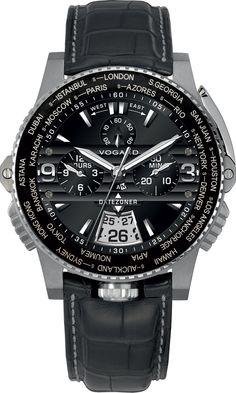 Vogard Datezoner Ref.Nr. DZ 61 Titanium Stainless Steel Black