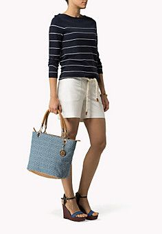Th Denim Jacquard Tote