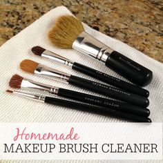 Don't overpay for makeup brush cleaner. This makeup brush cleaner is so easy to make and keeps your brushes soft.