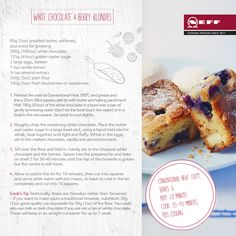 Our NEFF chocolate blondies are like brownies, but with white chocolate! And they make the best use of sumptious summer berries too. Enjoy our recipe - we do!