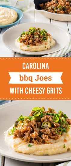 Carolina BBQ Joes with Cheesy Grits – Bring on the Southern-inspired flavor with this delicious combination of okra, ground pork, grits, cheddar cheese, and tangy vinegar BBQ sauce. Did we mention that this recipe is ready for the dinner table in just 45 minutes?!