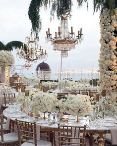 Cue the wanderlust vibes and reasons to have an outdoor reception! Tag a bride that would just love this fairytale setting! Magical Wedding, Dream Wedding, Wedding Day, Lake Como Wedding, Beautiful Wedding Venues, Summer Wedding, Wedding Venue Decorations, Wedding Themes, Luxury Wedding Decor