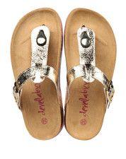 Bronzen/Gouden Develab kinderschoenen 48016 slippers