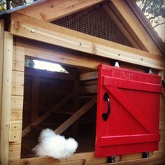 This is the luxury coop I built for our 5 chickens about 6 months ago. Now that the weather has finally thawed, I thought I'd post some pictures. Cheap Chicken Coops, Chicken Coop Pallets, Small Chicken Coops, Chicken Coop Signs, Portable Chicken Coop, Chicken Tractors, Building A Chicken Coop, Chicken Life, Chicken Runs