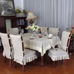 Photo- Photo Ideas Hand Made Hand Made Creativity - Dining Room Chair Covers, Dining Table Chairs, Table Covers, Furniture Covers, Outdoor Furniture Sets, Home Crafts, Diy Home Decor, Küchen Design, Interior Design
